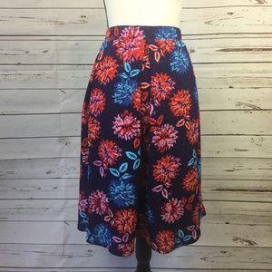 LuLaRoe Madison Floral Skirt, Size 2XL